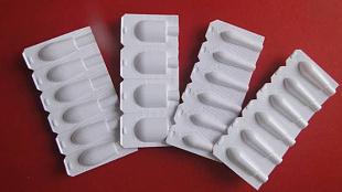 Plastic film for suppositories